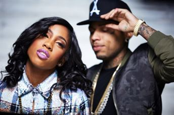 Kid Ink (right) with Sevyn Streeter. Big money on SoJones.com 24/7